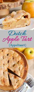 a pinterest image of Dutch Apple Tart with text overlay