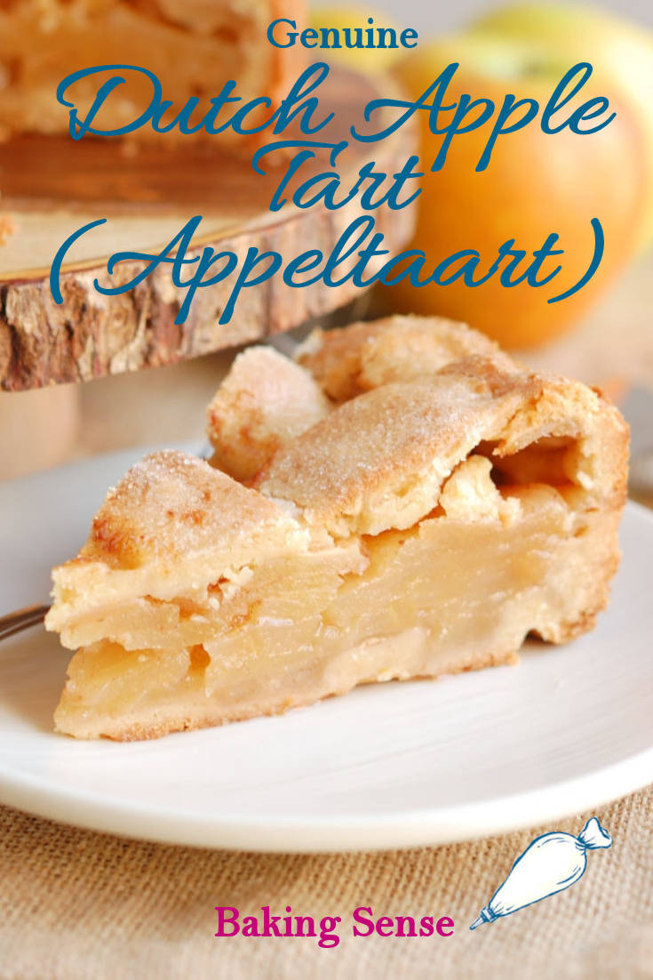 Dutch Apple Tart is made with a brown sugar cookie crust and a simple apple filling. This recipe is from my Dutch mother-in-law. #real #best #moist #fresh #holland #netherlands