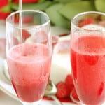 raspberry rose bellini