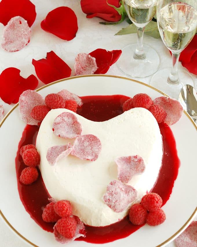 Coeur La Creme with Raspberry Rose Sauce - Baking Sense