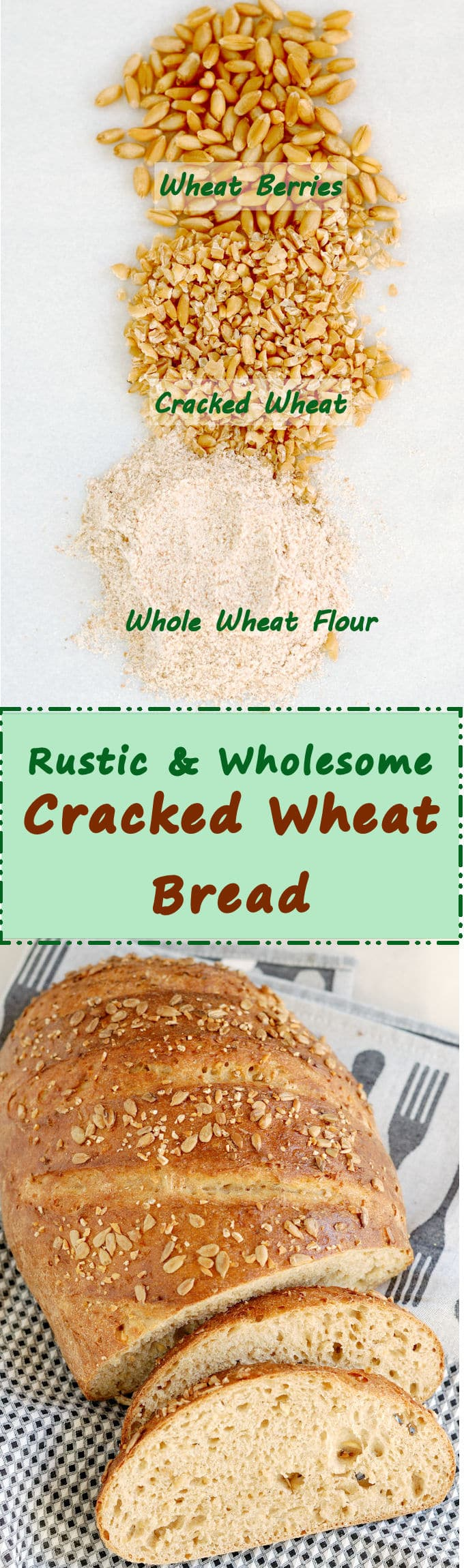 Cracked Wheat Bread is a rustic and chewy loaf with a substantial bite. Make this bread when you want a hearty loaf full of whole wheat flavor and goodness.