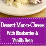 a pinterest image for dessert mac-n-cheese with text overlay