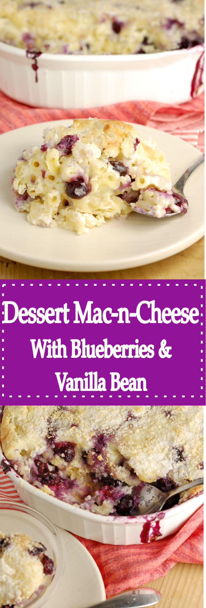 Yes, you read that right! Macaroni & Cheese for Dessert!
