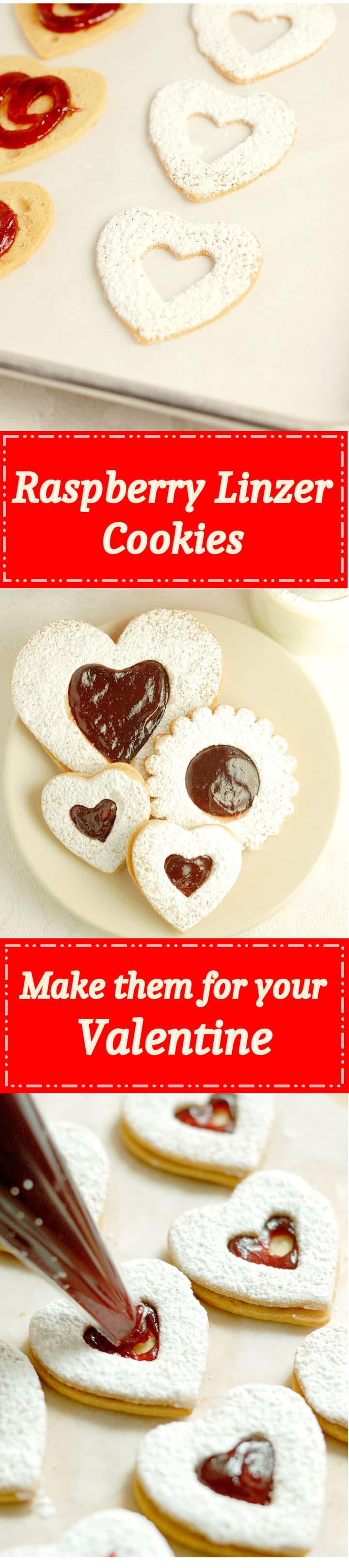 Raspberry Linzer Cookies are eEasy to make and even better the second day. Perfect to make ahead!