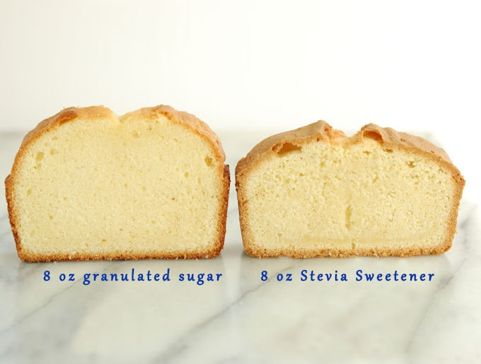 Pound cake made with stevia