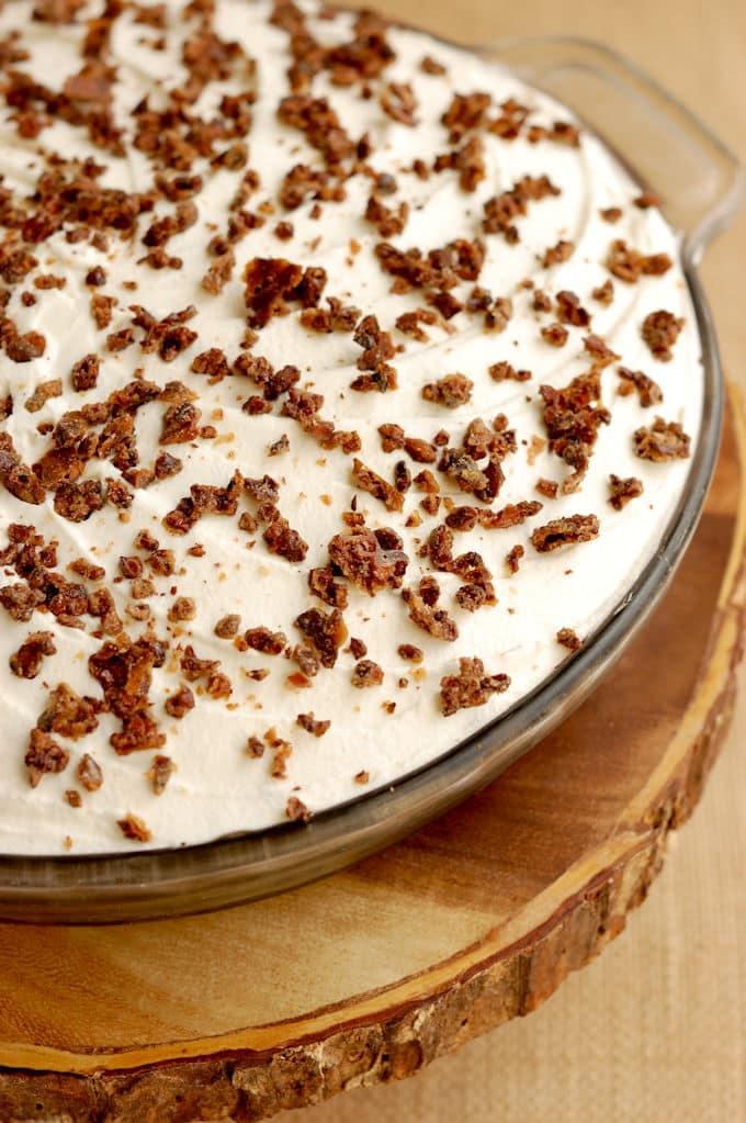 a triple chocolate cream pie