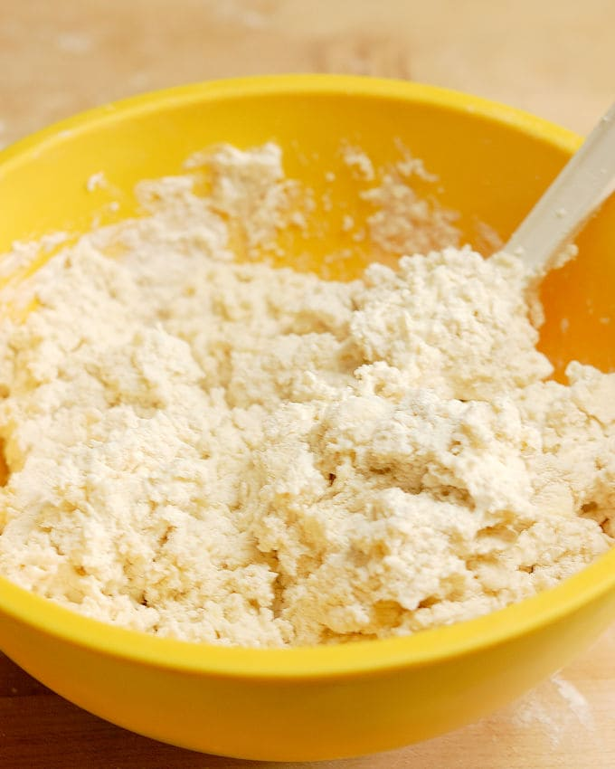 a bowl of buttermilk biscuit mix