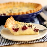a slice of Blackberry Buttermilk Pie