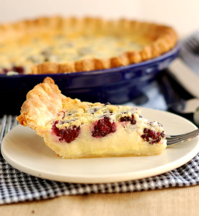 Blackberry Buttermilk Pie