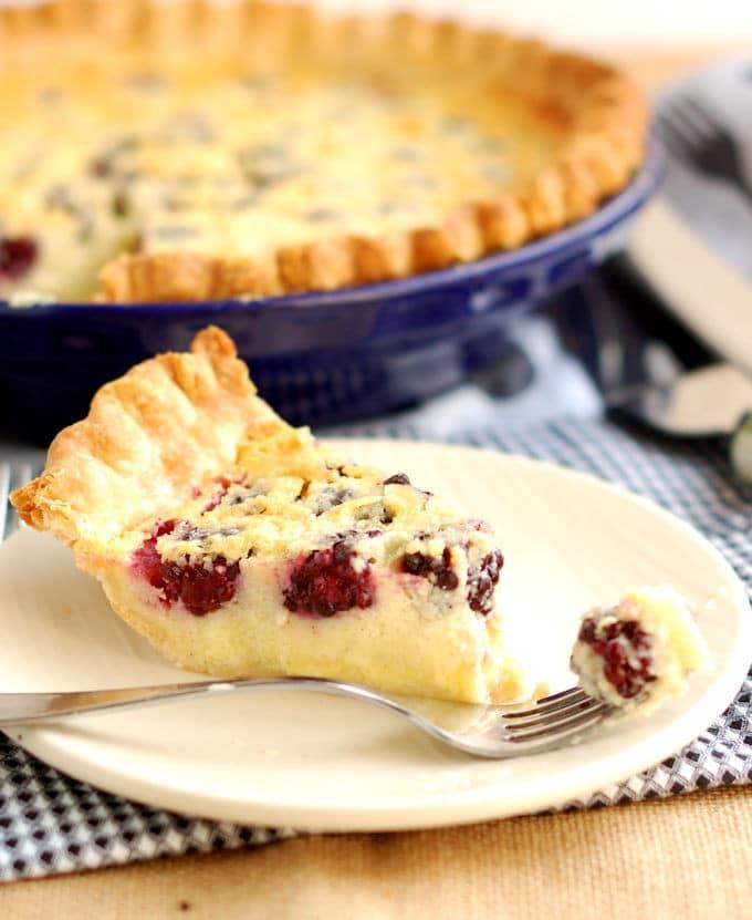 Blackberry Buttermilk Pie with Cardamom - Baking Sense