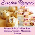 an image of easter recipes with text