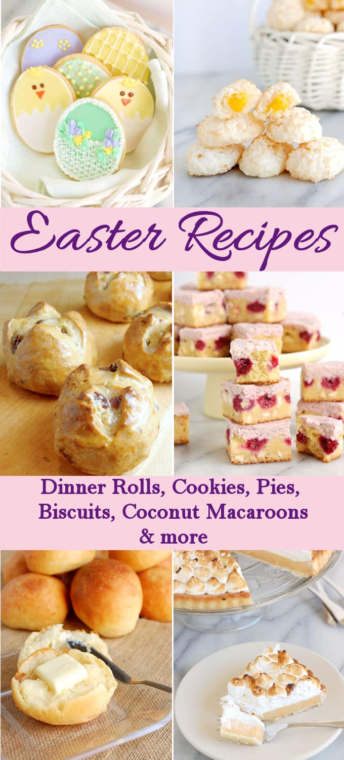 A great collection of recipes to make this Easter. Choose from rolls, biscuits, cookies, cakes, pies & more.