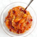 a bowl of kumquat chutney