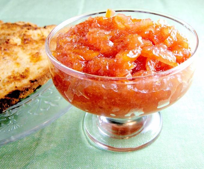 St. Patrick's Day Recipes blood orange marmalade