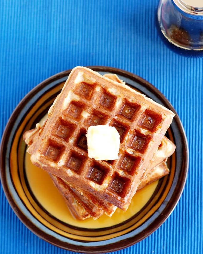 Whole Grain Sourdough Waffles - Baking Sense
