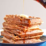 whole grain sourdough waffles