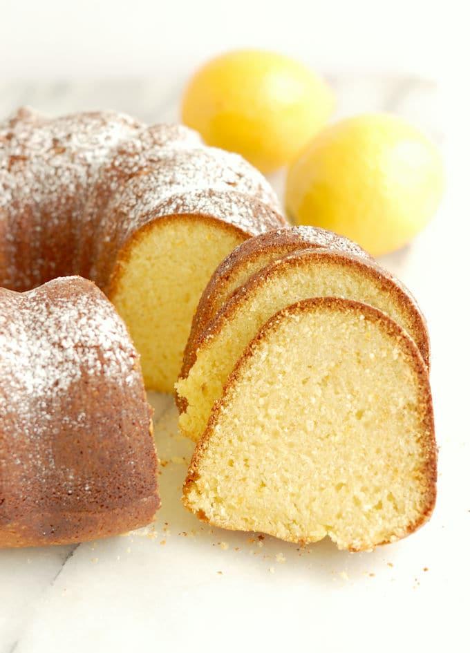 Lemon Cornmeal Bundt Cake