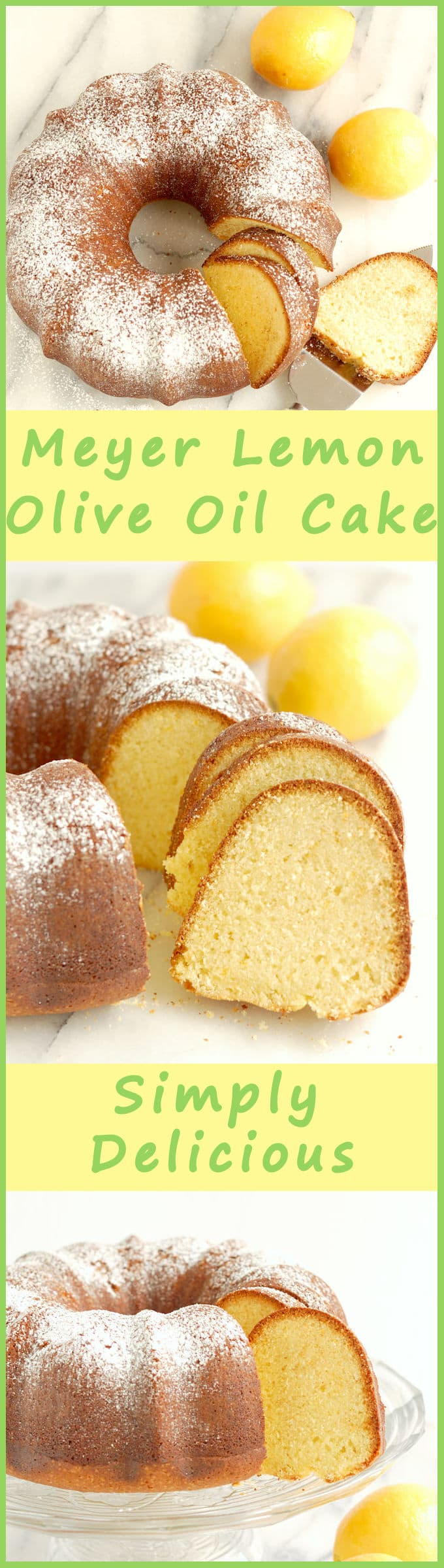 Rich and tangy with Meyer Lemon and Olive Oil. This cake will keep fresh for days. Get the recipe and find out how the recipe was created