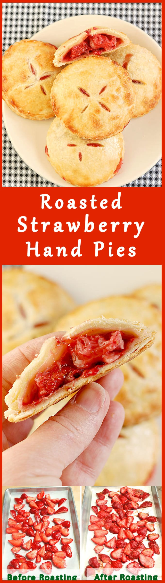 Roasted Strawberry Hand Pies are perfect when you're having finger foods for #SundaySupper