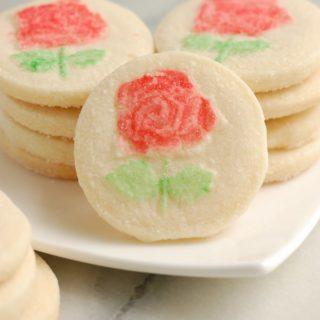 Rose Shortbread Cookies #SundaySupper
