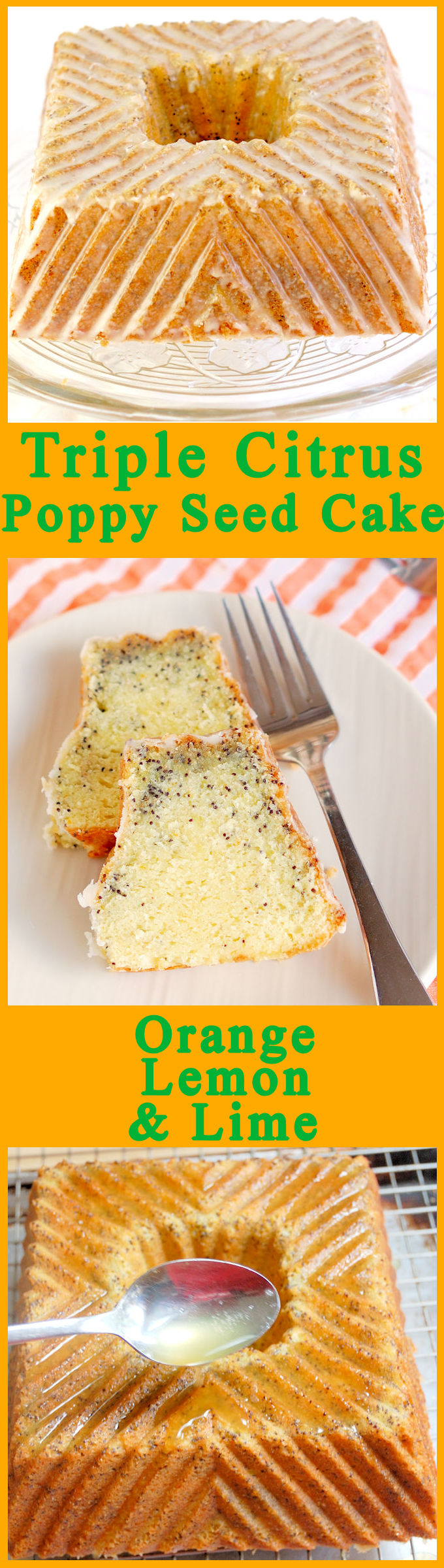 Gray Cake Platter >> Triple Citrus Poppy Seed Cake - Baking Sense