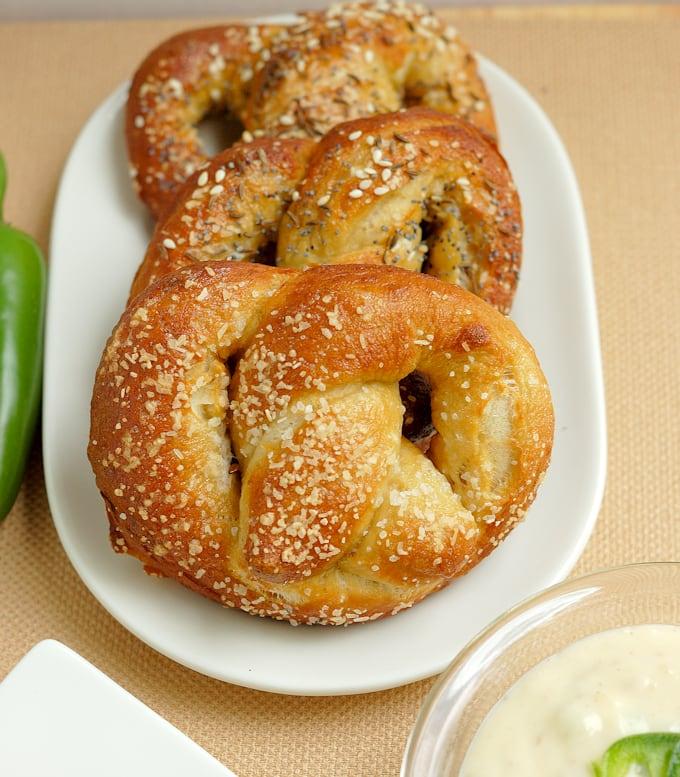 beer infused bavarian pretzels 7a