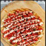 a pinterest image for grilled dessert pizza
