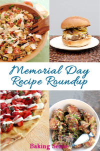 a pinterest image for memorial day recipe roundup with text overlay