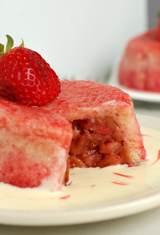 roasted rhubarb summer pudding 6