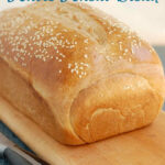 a pinterest image for milk and honey whole wheat bread recipe