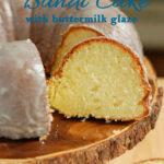 a pinterest image for buttermilk bundt cake