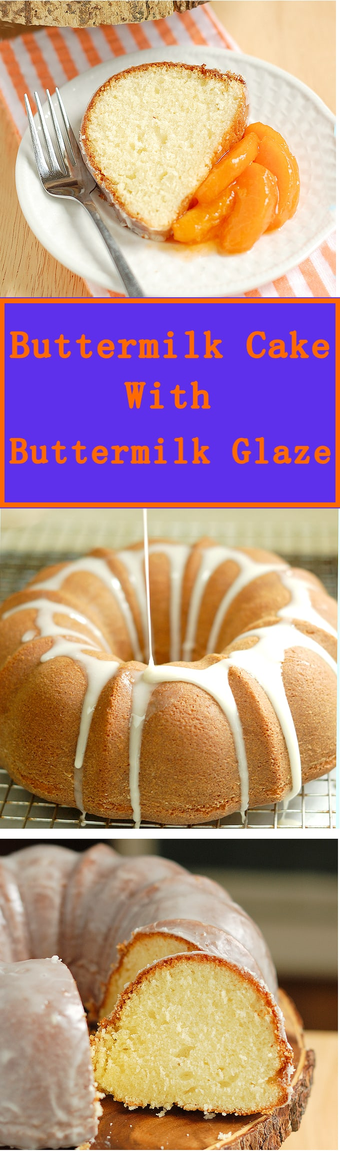 Melt-in-your-mouth buttrmilk cake with a thin coating of sweet buttermilk glaze. So easy to make. This is the perfect snack cake.