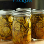 a pinterest image for bread and butter pickles
