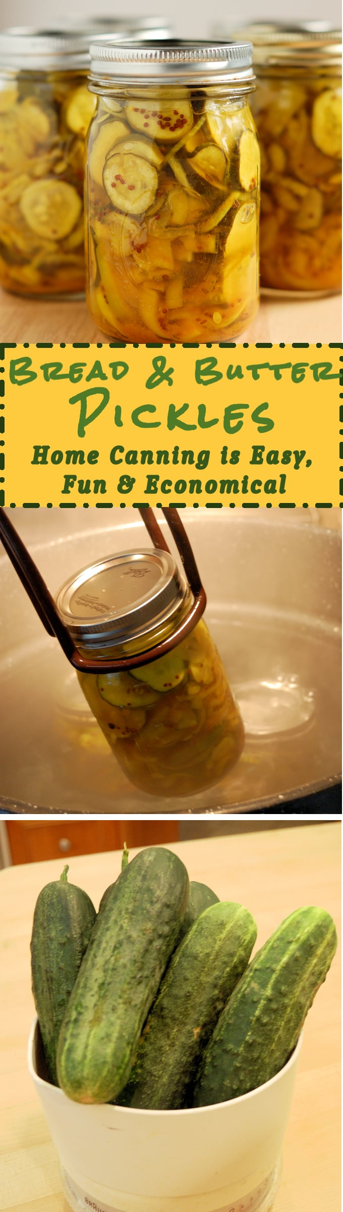 Bread & Butter Pickles are easy to make. If you've never tried home canning this is a great recipe to start with.