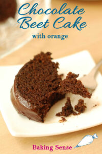 a pinterest image for chocolate beet cake