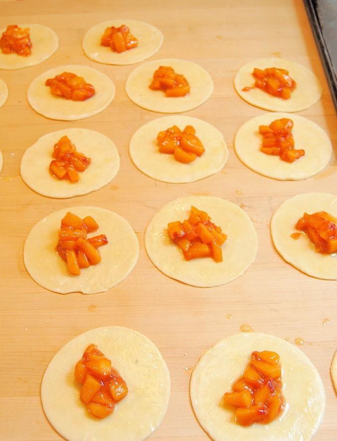 assembling hand pies
