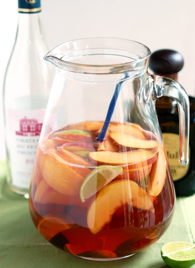a pitcher of mexican-sangria