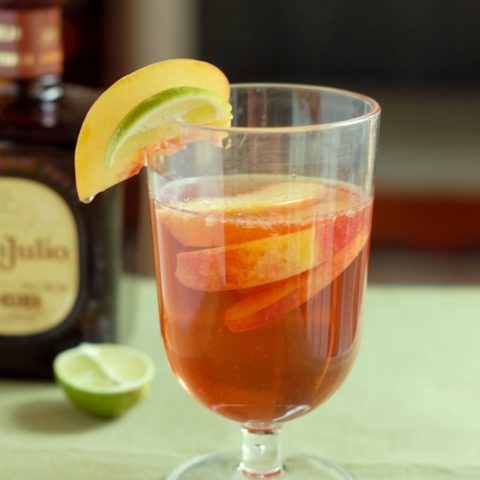 a glass of mexican sangria