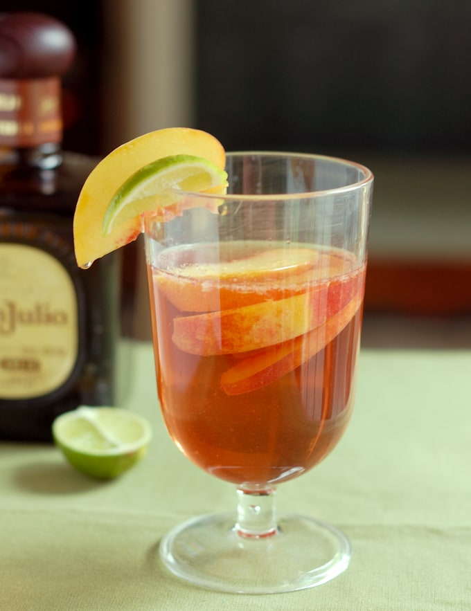 a glass of mexican-sangria