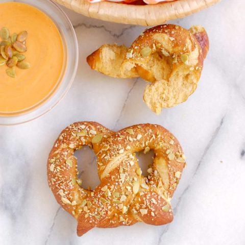 Pumpkin Spice Ale Soft Pretzels #Breadbakers
