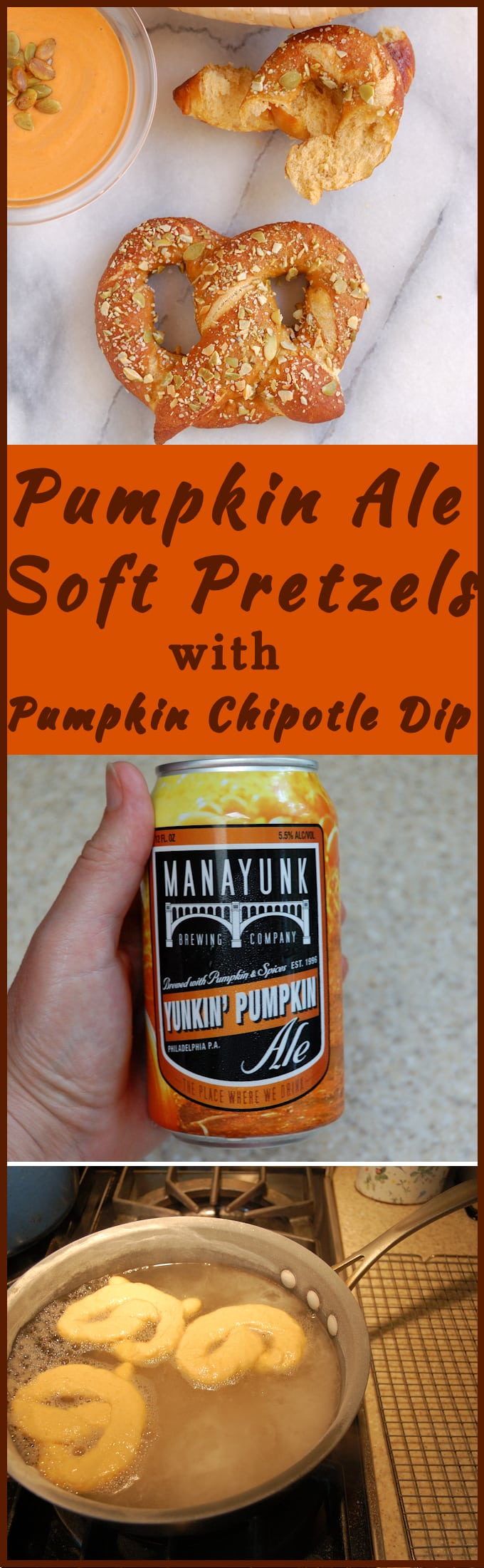 Love Pumpkin Spice Ale? Use it to make Pumpkin Spice Ale Soft Pretzels with Pumpkin Chipotle Dip. Perfect party treat!
