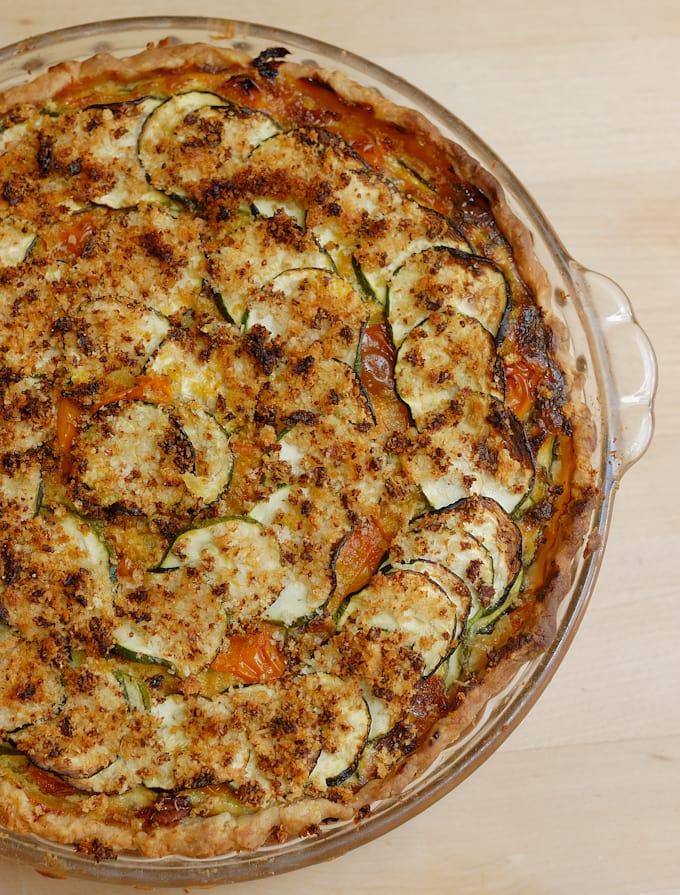 a zucchini pie