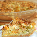 a pinterest image for zucchini pie