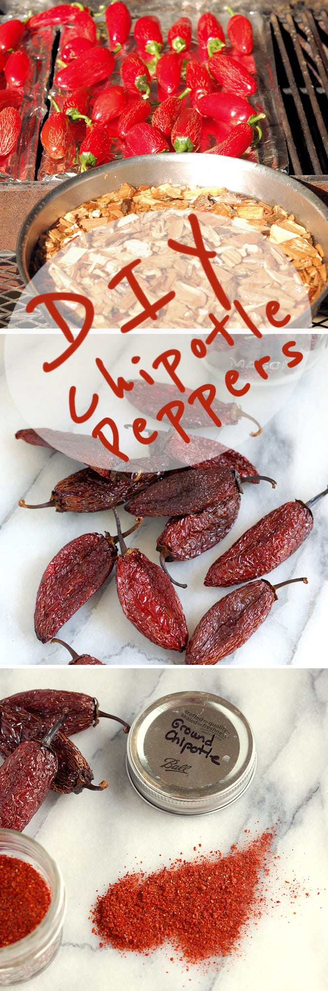 Make your own Chipotle Peppers. There is just one ingredient in this recipe, fresh jalapeno peppers.