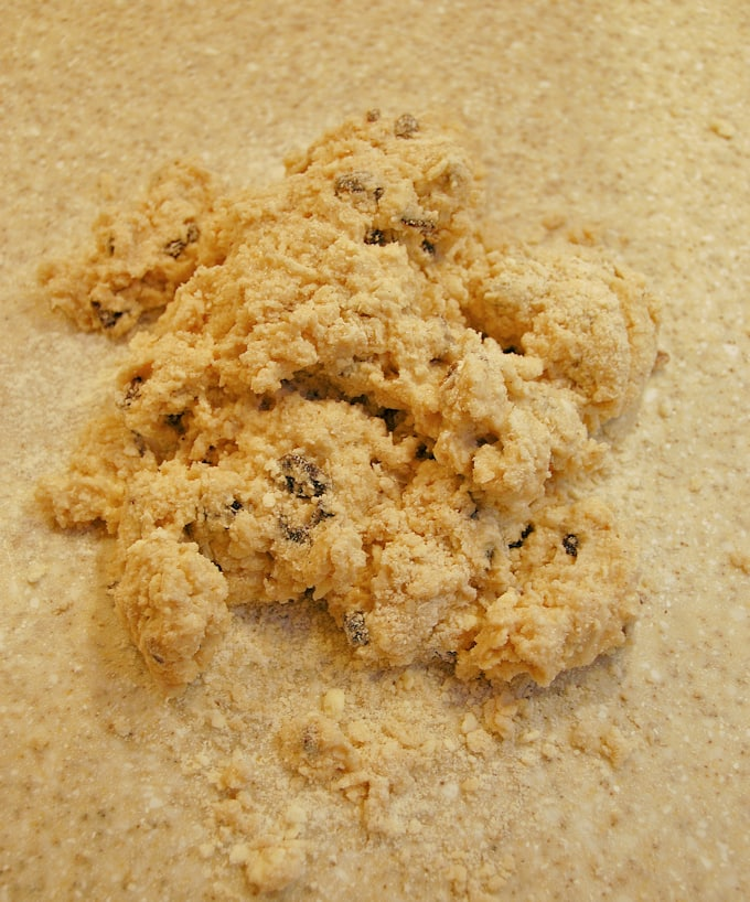date-spice-scones-dough on a work surface