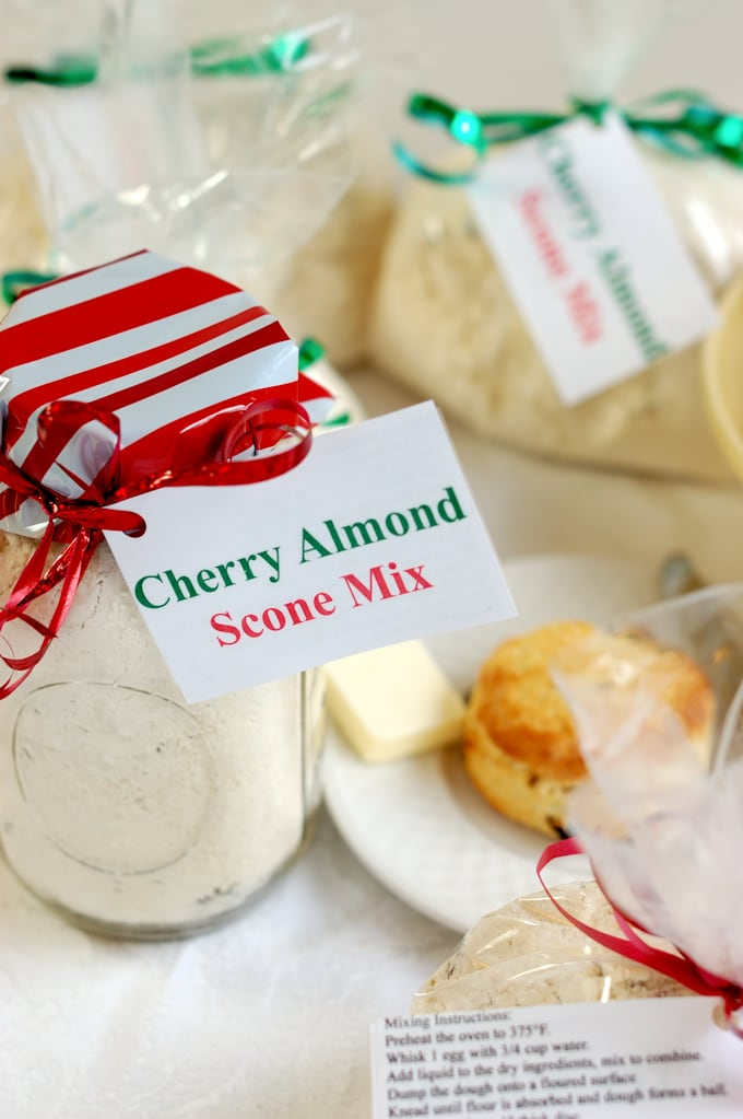 Homemade Cherry Almond Scone Mix