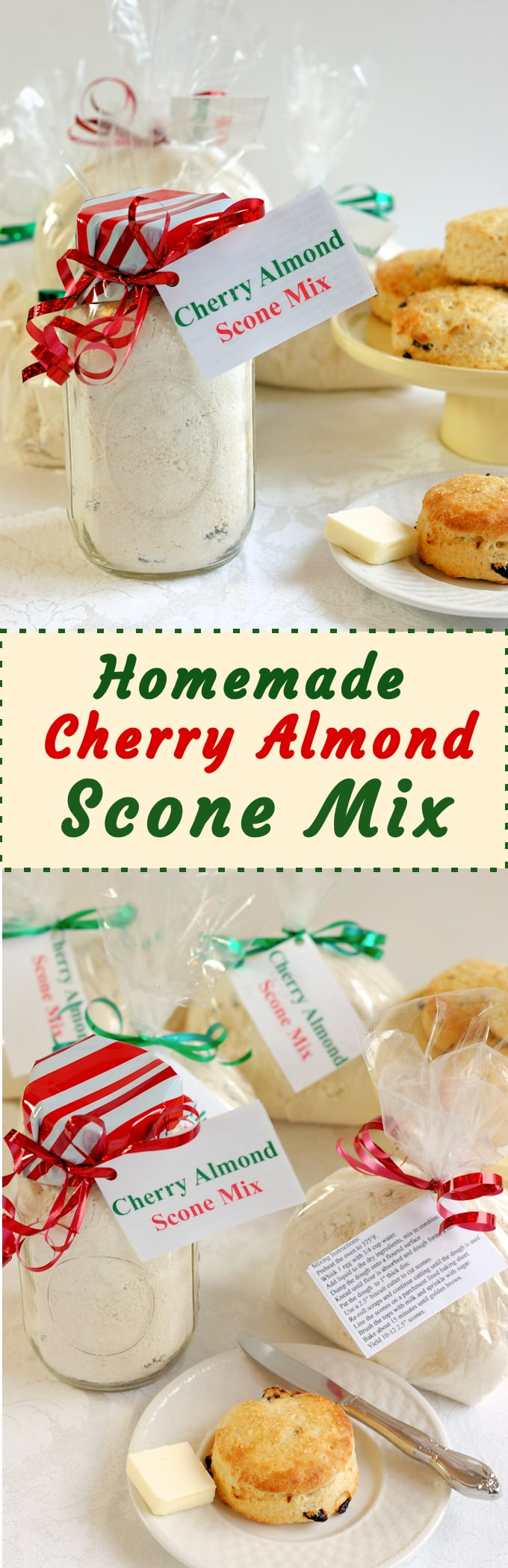 There's nothing nicer than a gift from the kitchen. Scone mix is easy to make and everyone loves a freshly baked scones. #SundaySupper