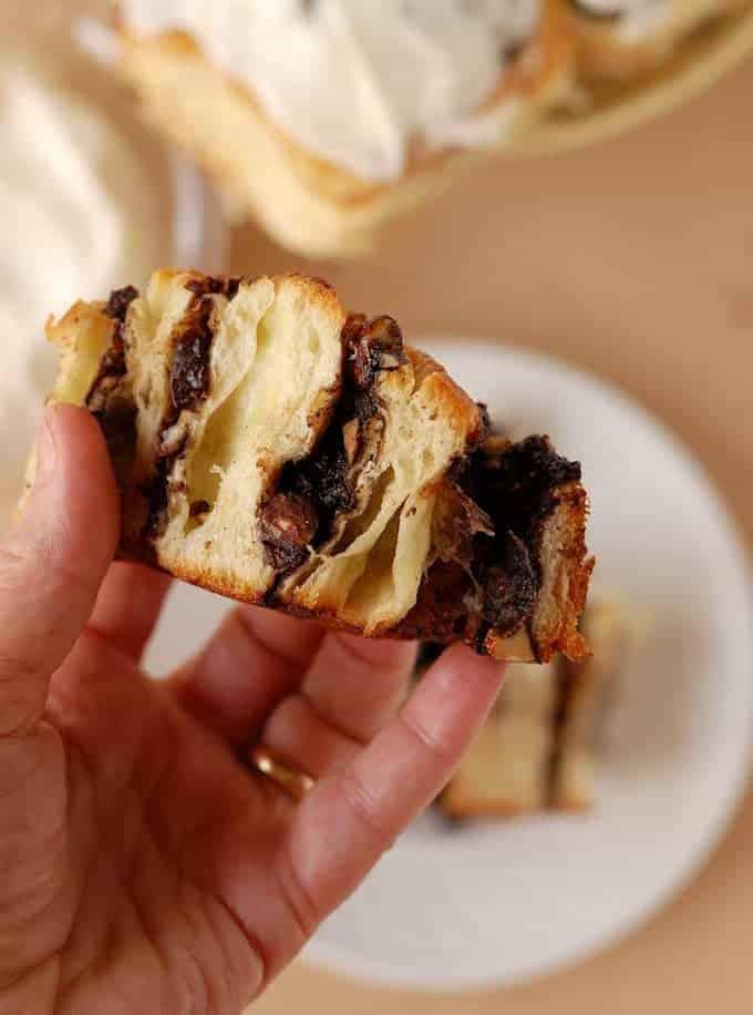 chocolate cherry almond brioche buns