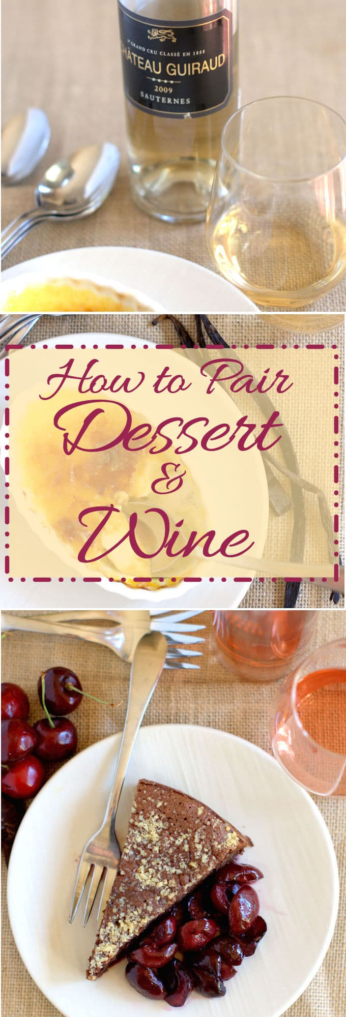 You don't have to stop serving wine when the dessert is on the table. A few simple guidelines will help you pair your dessert with the right wine.