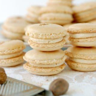 Eggnog Macarons #SundaySupper